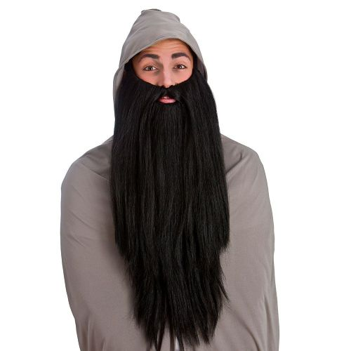 Mens Deluxe Long Beard Wig for God Santa Jesus Fancy Dress Cosplay Outfit
